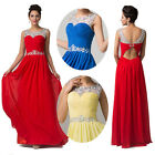 FREE SHIP RED Quinceanera Prom Party Ball Gown Evening Pageant Long Maxi Dresses
