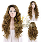 "Long Curly 18""-28"" Dark Roots with Blonde Lace Front Synthetic Wig Wigglamour"