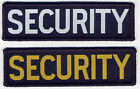 Security Woven Badge Patch Navy Blue 9.8cm x 2.8cm
