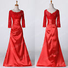 Plus Size Sexy Mermaid Lace Red Ballgown Wedding/Evening Bridesmaid Dresses 6-20