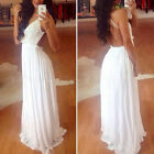 SEXY Lace Chiffon Bridesmaid Formal Gown Wedding LONG Party Evening Prom Dresses