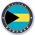 2 x 10cm Nassau Bahamas Vinyl Sticker iPad Laptop Car Flag Luggage Tag Fun #5039