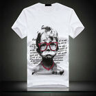 Valuable New Men Printed Round Neck Short Sleeve T-Shirts Tee Tops BDAU