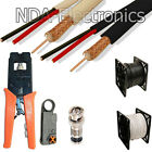 1000 ft RG59 Siamese Security Camera Cable Stripper Crimp...