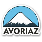 2 x 10cm Avoriaz Ski Snowboard Vinyl Sticker iPad Laptop Luggage Travel #5129