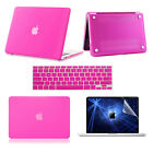 """3in1 Lot Hot Pink Rubberized Hard Case Cover for Macbook Air 11""""13 Pro 13""""15inch"""