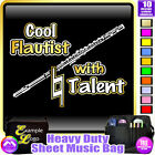 Flute Cool Player With Natural Talent - Sheet Music Custom Bag by MusicaliTee