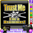 Drum Fist and Sticks Trust Me - Sheet Music & Accessories Bag by MusicaliTee
