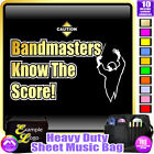 Bandmaster Know The Score - Sheet Music & Accessories Custom Bag by MusicaliTee