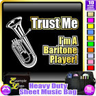 Baritone Trust Me - Sheet Music & Accessories Personalised Bag by MusicaliTee