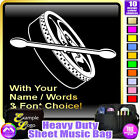 Bodhran Picture With Your Words - Sheet Music Custom Bag by MusicaliTee