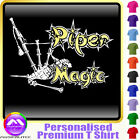 Bagpipe Magic - Personalised Music T Shirt 5yrs - 6XL by MusicaliTee