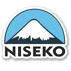 2 x 10cm Niseko Ski Snowboard Vinyl Sticker iPad Laptop Luggage Travel #5155