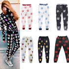 Mens Women Emoji Funny Winter Print Jogger Casual Pants Running Sweatpants Slack