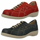 Ladies Easy B Lace Up Flat Casual Shoes - Hornsea