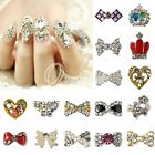 10pcs New Glitters Rhinestone Charm 3d Nail Art Alloy Stickers Decorations DIY