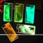 1pc Fluorescent Luminous Sand Clear Hard Case Cover Skin For iPhone 5 5S Gift