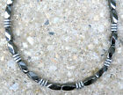 Men's Sportsman Series 100% Magnetic Hematite Silver DISC NECKLACE FREE SHIPPING
