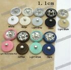 100 fabric covered Copper Metal snap Fasteners Buttons Press Sewing 11mm 9color