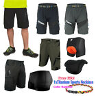 Men Cycling Mount Bike Bicycle Sport Pants Coolmax Padded Underwear Shorts+Gifts