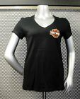 "RONNIE'S HARLEY-DAVIDSON WOMEN'S V-NECK T-SHIRT ""BURN LOGO"" #R1483"