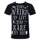 Kill Star Too Weird Mens Black T Shirt ALL SIZES - Alternative Tees & Clothing