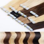 Tape In On Echthaar Extensions Haarverlängerung 60 cm lang 8 x 4 cm Skin Wefts