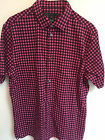 NWT Marc Jacobs Mens Hottest Pink Plaid Printed Check Shirt XXS XS S M L XL $188