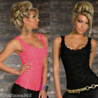 Elegant Women Lady Exquisite Lace Tank Top Vest Sexy Sleeve​less T-Shirt Blouse