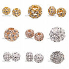 2x Latest Clear Rhinestone Copper European Charms Beads Fit Jewelry Bracelet BS