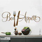Wall Bon Appetit Sticker Vinyl Kitchen Decal Decor Art Quote Home Lettering
