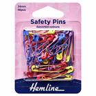 Hemline Safety Pins 34mm Assorted Colours 50 pcs Or Stainless Steel 34mm 30 pcs