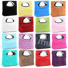 Italy Ladies Real Italian Suede Leather Clutch Evening Hand Bag Tote Bags