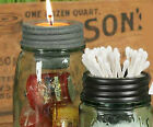 Mason Jar Tapered Sundries Cup Lid - Votive, Clip,Q-tip Display & Holder