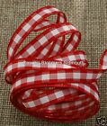 Berisfords Check / Gingham Ribbon ( 1141 )  ~ 7mm 15mm 25mm ~ Assorted Colours