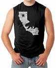 California State Map - Cali Bear Republic Pride Men's SLEEVELESS T-shirt