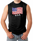 Splattered American Flag - Waving USA Pride Men's SLEEVELESS T-shirt