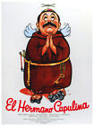 5412.El hermano capulina.friar with propeller hat.POSTER.Decoration.Graphic Art