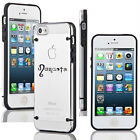 For Apple iPhone 4 4s 5 5s 5c Thin Clear Hard TPU Case Cover Namaste Yoga Om Ohm