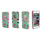 Orchid Pattern Combo Hybrid Silicone Case Skin Cover For iPhone6 4.7inch Tide