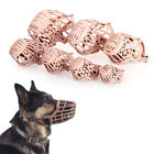 Pet Dog Plastic Basket Muzzle Adjustable Mesh Cage Stop Biting Barking  7Sizes