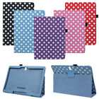 Polka Dot Stand Leather Case Cover For Samsung Galaxy Tab S 10.5 T800 Tide