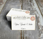 VINTAGE POSTCARD WEDDING PLACE CARDS, TAGS or ESCORT CARDS #302