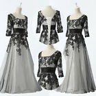 HOT Vintage Retro Mother Bride Party Prom Evening Formal Long Lace Dresses Gowns