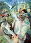 5594.Abstract painting.horse.soviet soldiers.man.POSTER.Decoration.Graphic Art