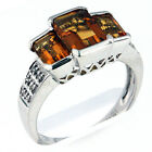 18kt Gold Citrine and Diamond Ring 1Y25ML