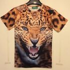 Fashion Wild Beast Leopard Tiger 3D Printed T-shirt Mens Womens Funny Round Top
