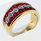 1.22ct Ruby Ring Yellow Gold