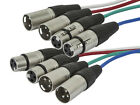 4-Channel (2 upstream & 2 downstream) XLR Male to XLR Female Snake Cable