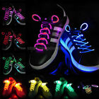 2 PAIRS 3-Modes LED Flash Light Up Glow Shoelaces Disco Party Skating Shoe Laces